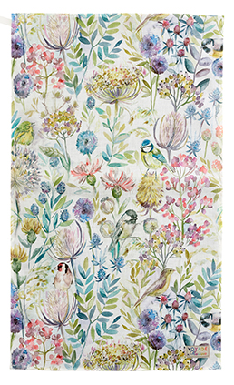 Morning Chorus Cotton/Linen Tea Towel 50x70cm