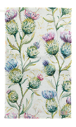 Thistles Cotton/Linen Tea Towel 50x70cm