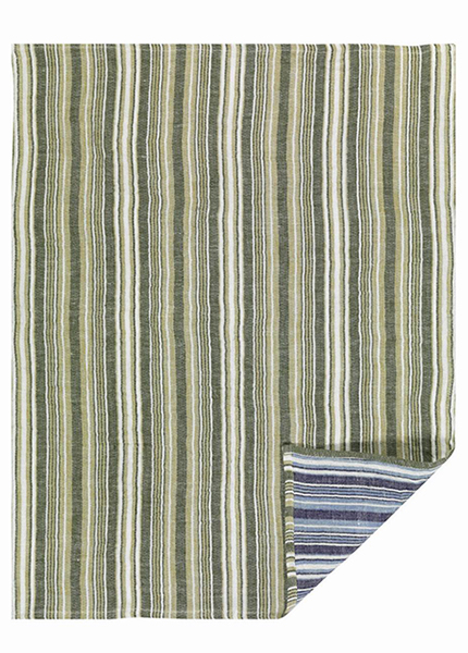 Giano Green Blue Linen Tea Towel 50x70cm