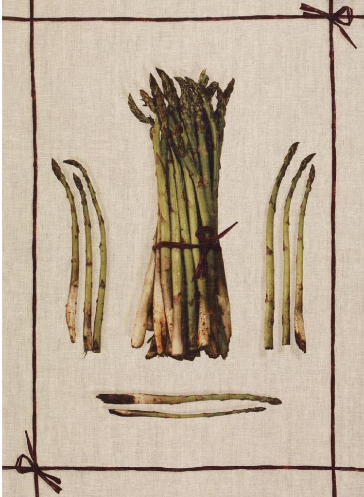 Asparagus Linen Tea Towel 50x70cm