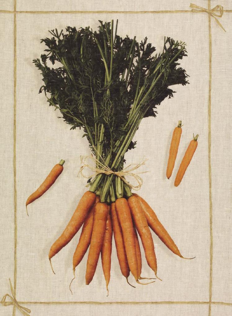 Carrots Linen Tea Towel 50x70cm