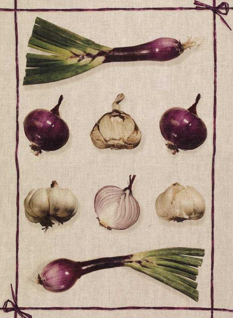 Onions Linen Tea Towel 50x70cm