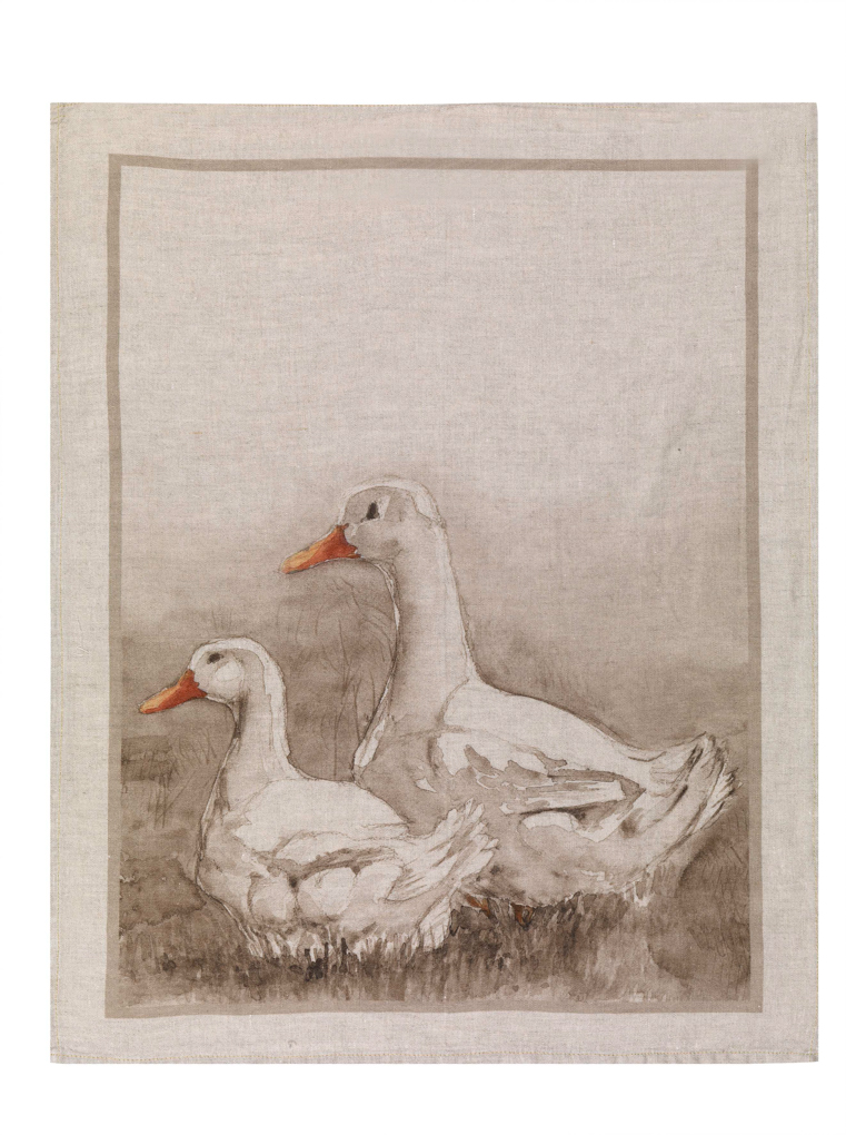 Ducks Linen Tea Towel 50x70cm