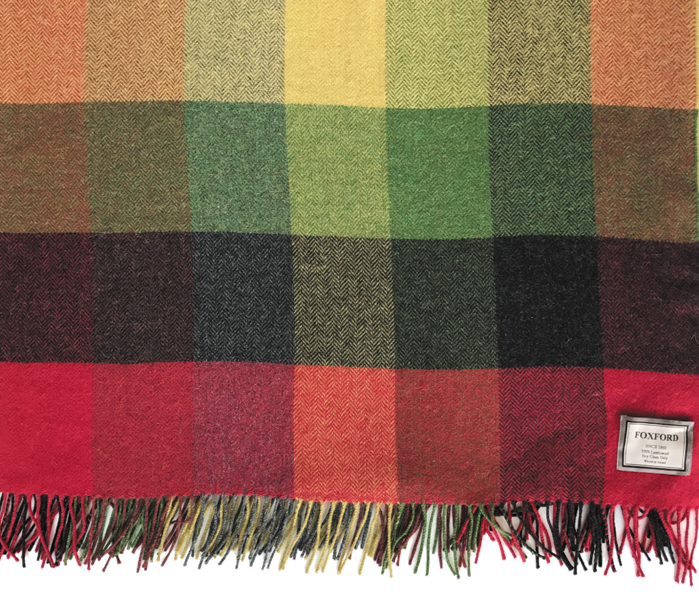 Lambswool Check Autumn Throw 140x180cm
