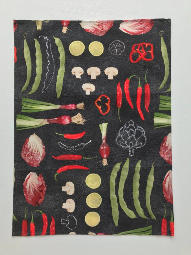 Delikatessen Cotton Black Tea Towel