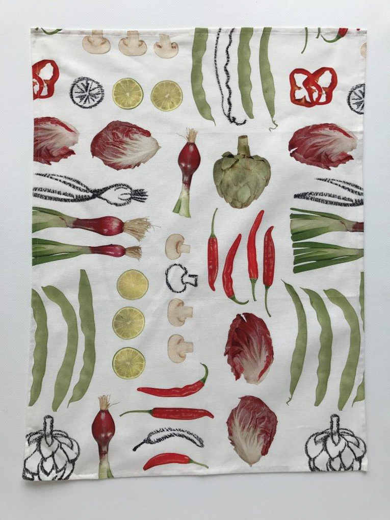 Delikatessen Cotton Tea Towel White