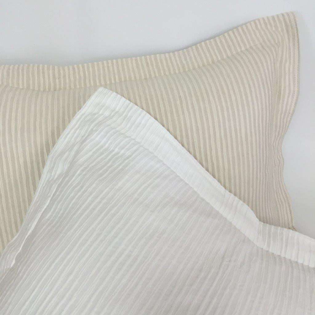 Alicante Egyptian Cotton Bedspread. White or Natural