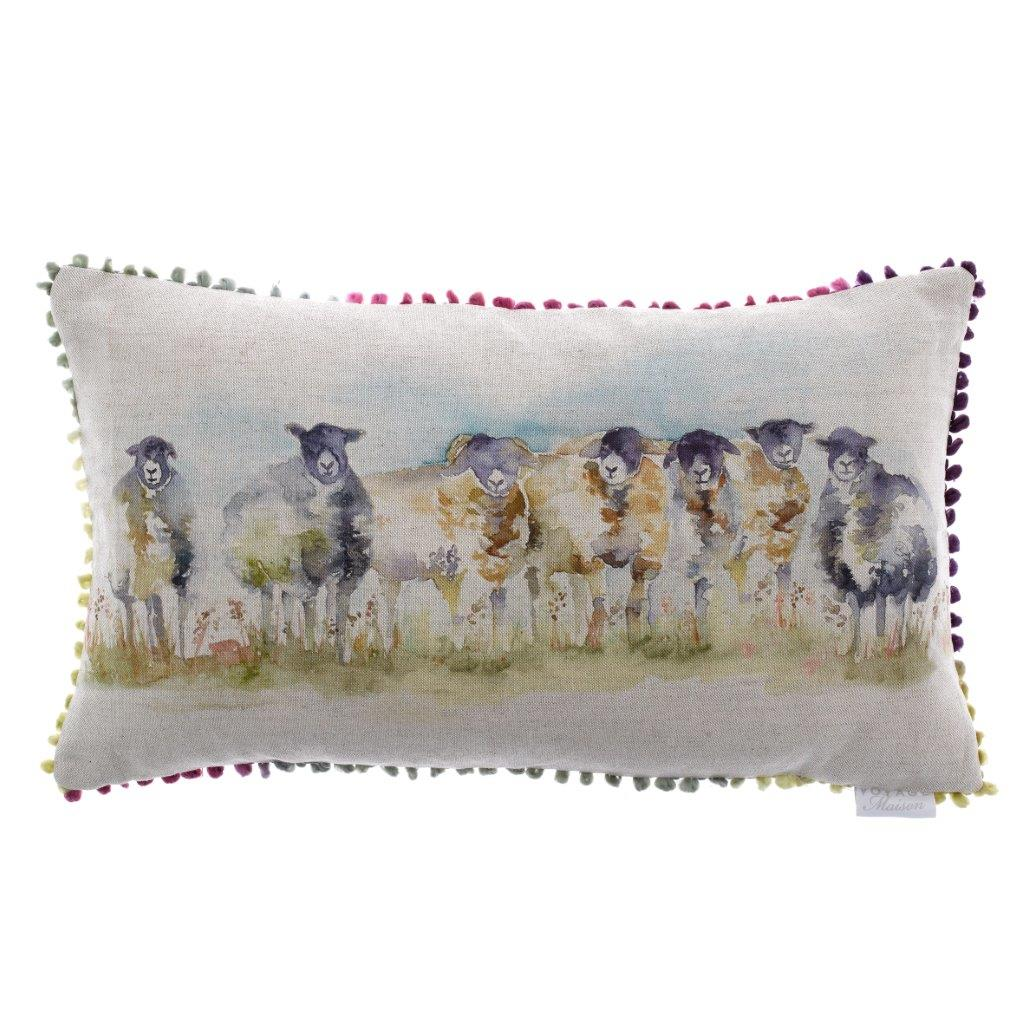 Come By Sheep Linen Cushion 35x60cm