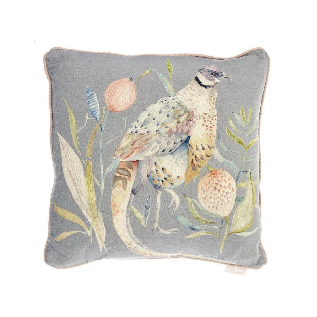 Crested Pheasant Linen Cushion 50x50cm