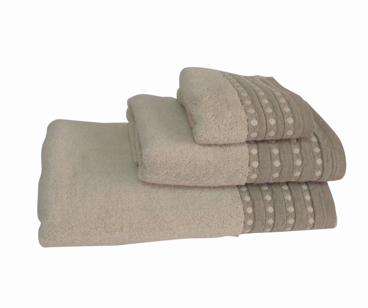 Spot Natural Bath Linen 95% Egyptian Cotton 5 % Linen. Face Cloth, Finger Towel, Guest Towel, Bath Towel, Bath Sheet