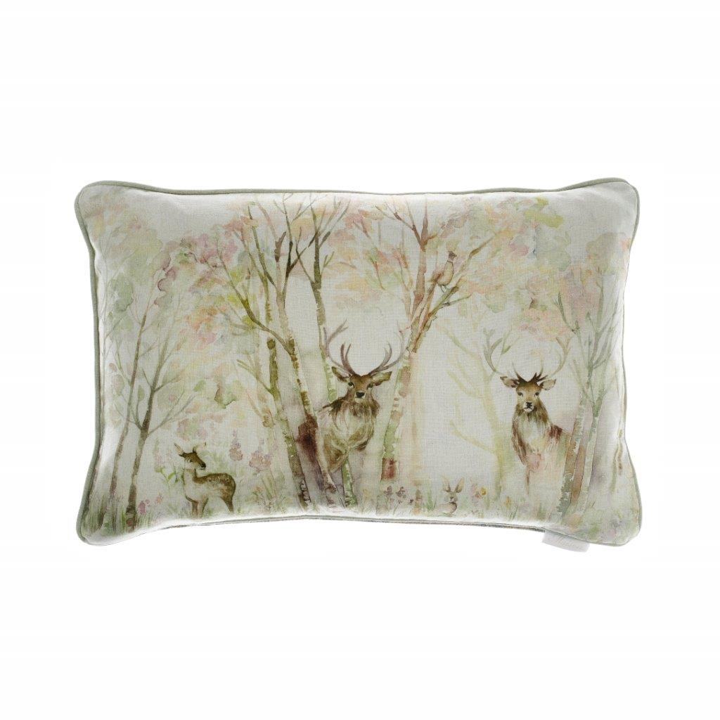Enchanted Forest Linen Cushion 40x60cm