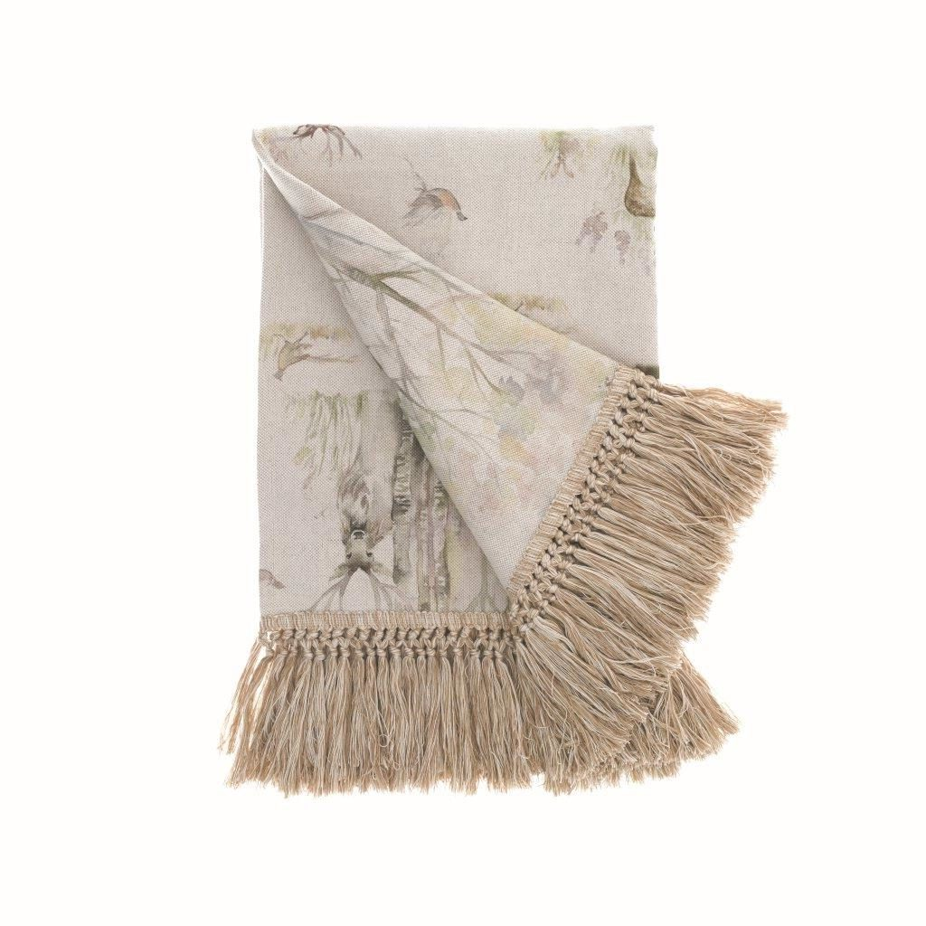 Enchanted Forest Linen Throw 205x136cm