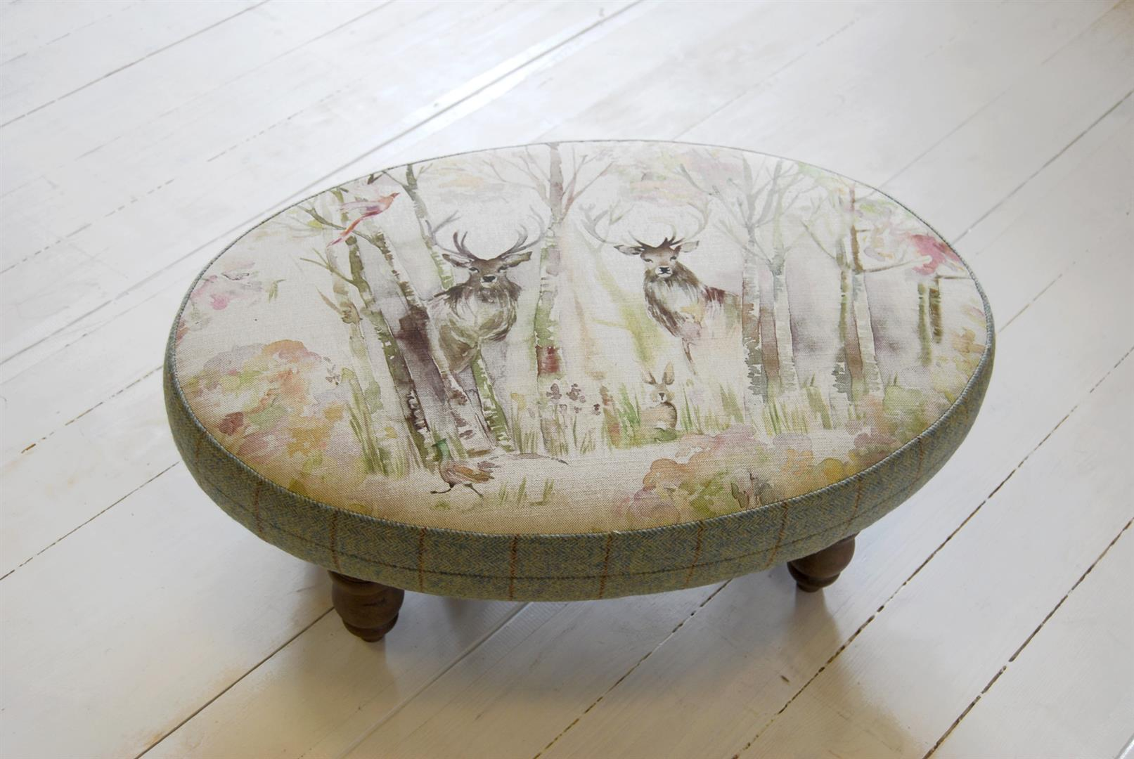Enchanted Forest Linen Stool 42Lx65Wx26cmH
