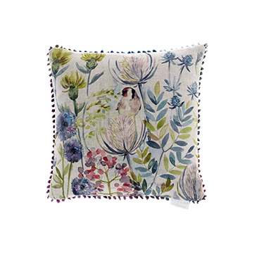 Goldfinch Linen Cushion 43x43cm