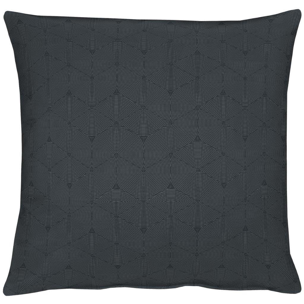 Geo Black Cotton Cushion 49x49cm
