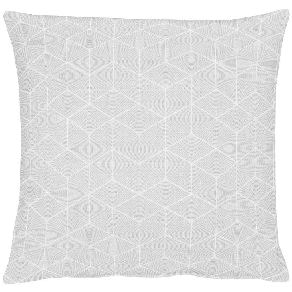 Geo White Cotton Cushion 49x49cm
