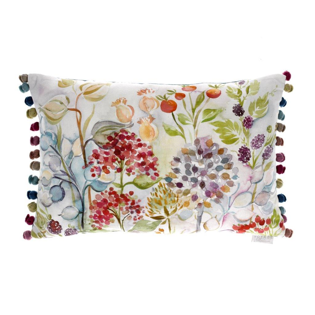 Hedgerow White Linen Cushion 40x60cm