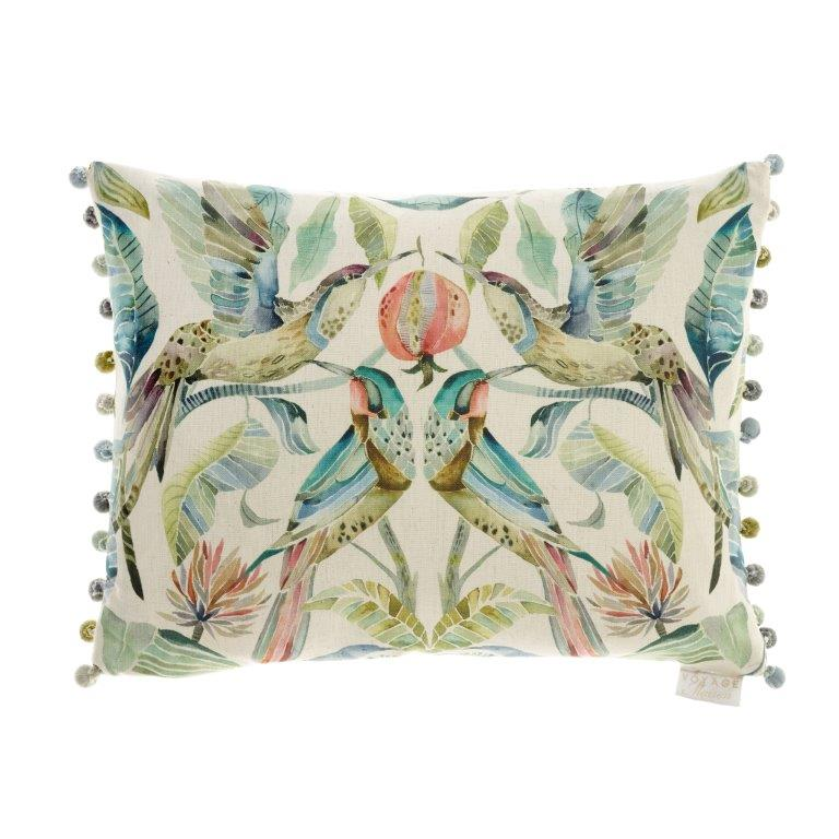 Colyford Pomegrante Linen Cushion 40x60cm