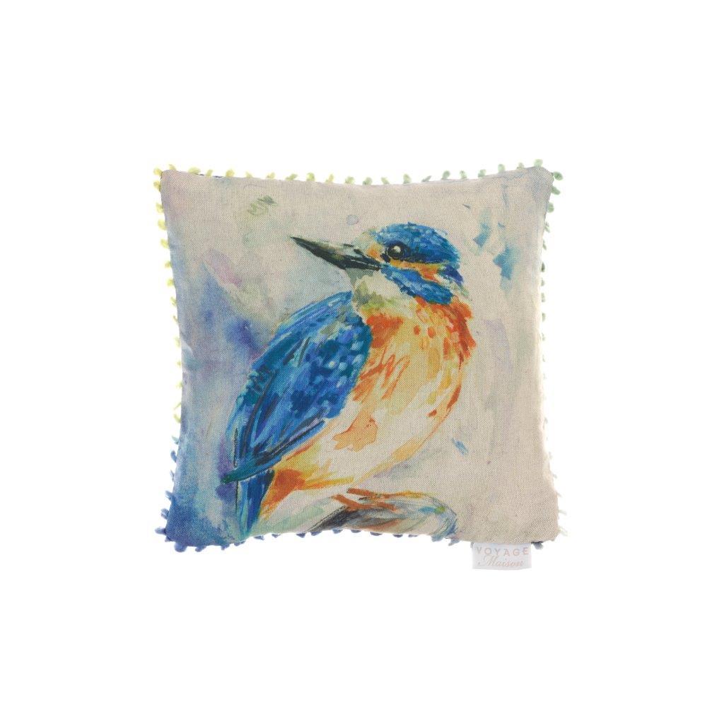 Kingfisher Linen Cushion 35x35cm
