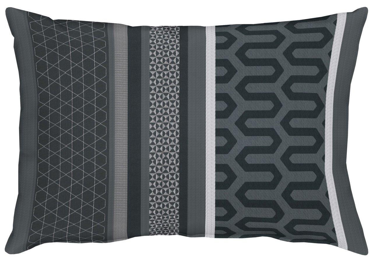 Miron Black Cotton Cushion 35x50cm