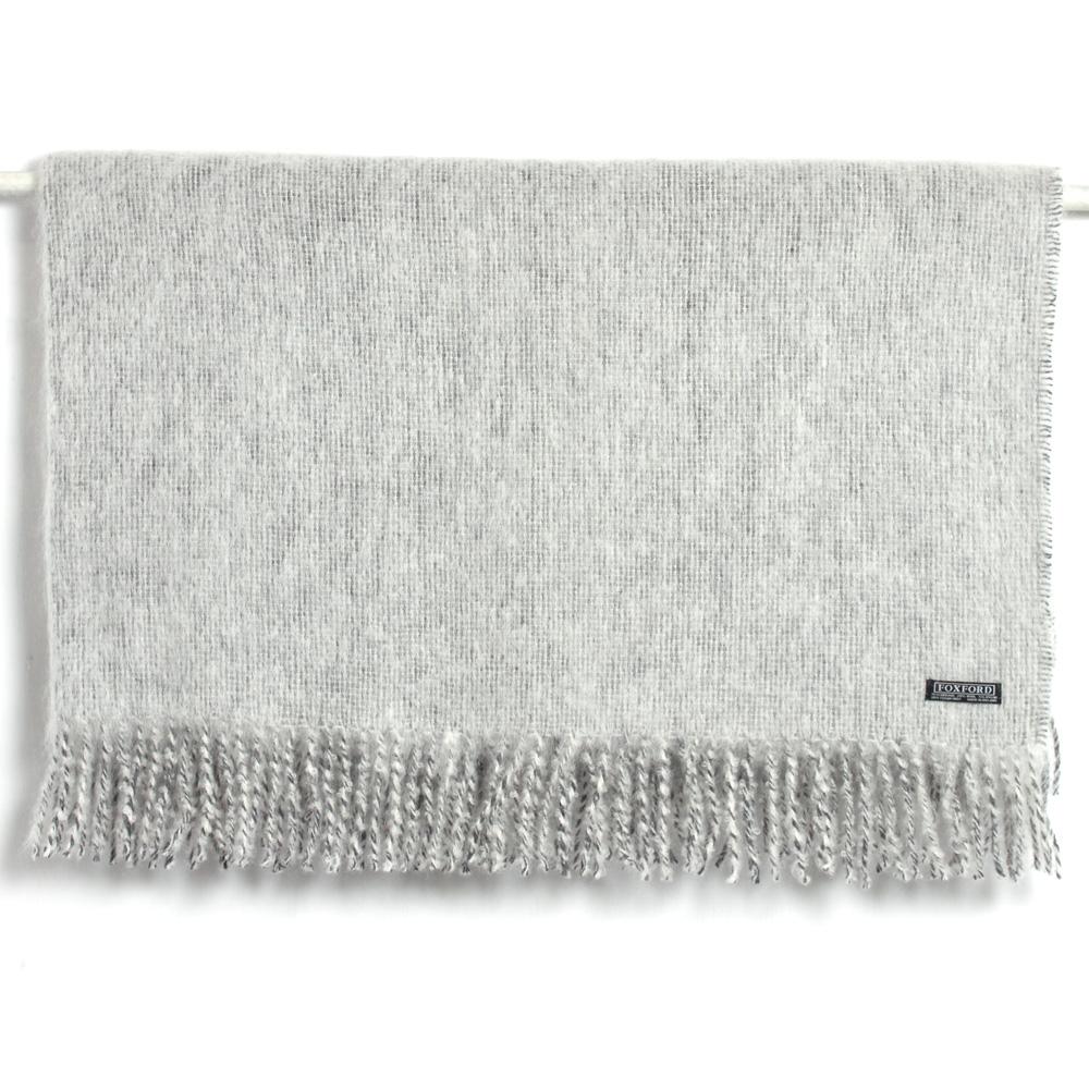 Pale Blue Mohair Wool Throw 147cmx179cm