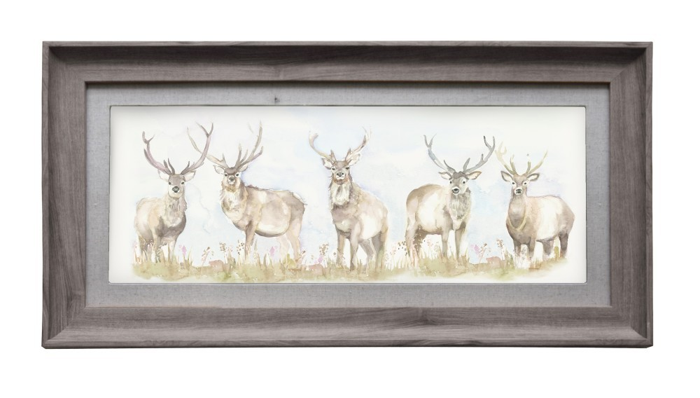 Moorland Stag Wall Art 72cmLx36cmH