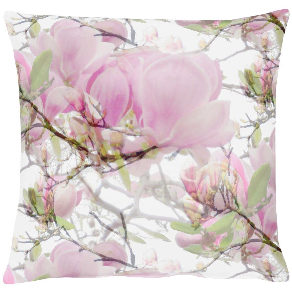 Pink Magnoila Cotton Cushion 49x49cm