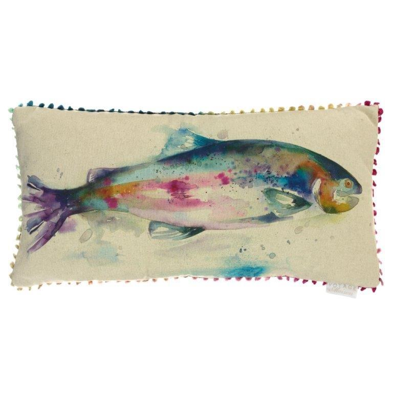 Rainbow Fish Linen Cushion 30x60cm