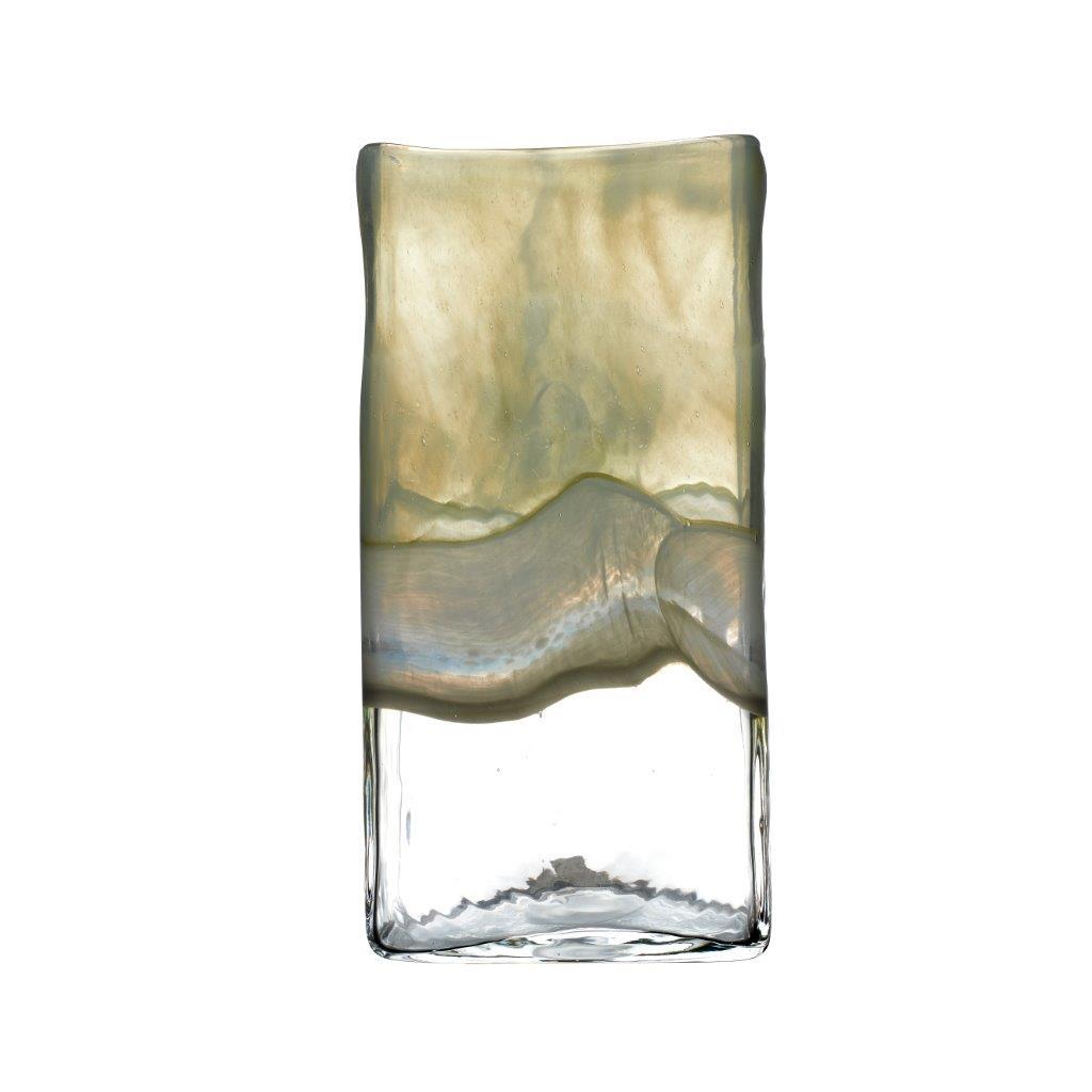Sabriel Medium Vase Olivine 30cmHx9cmDx15cmW