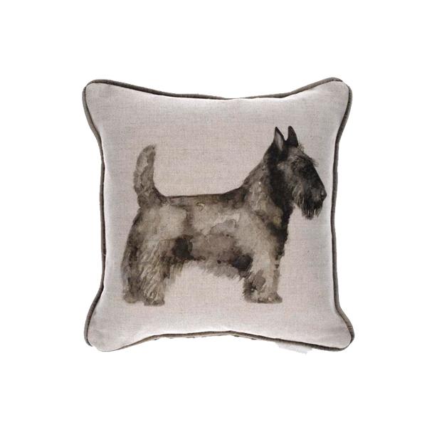 Scottie Linen Cushion 35x35cm