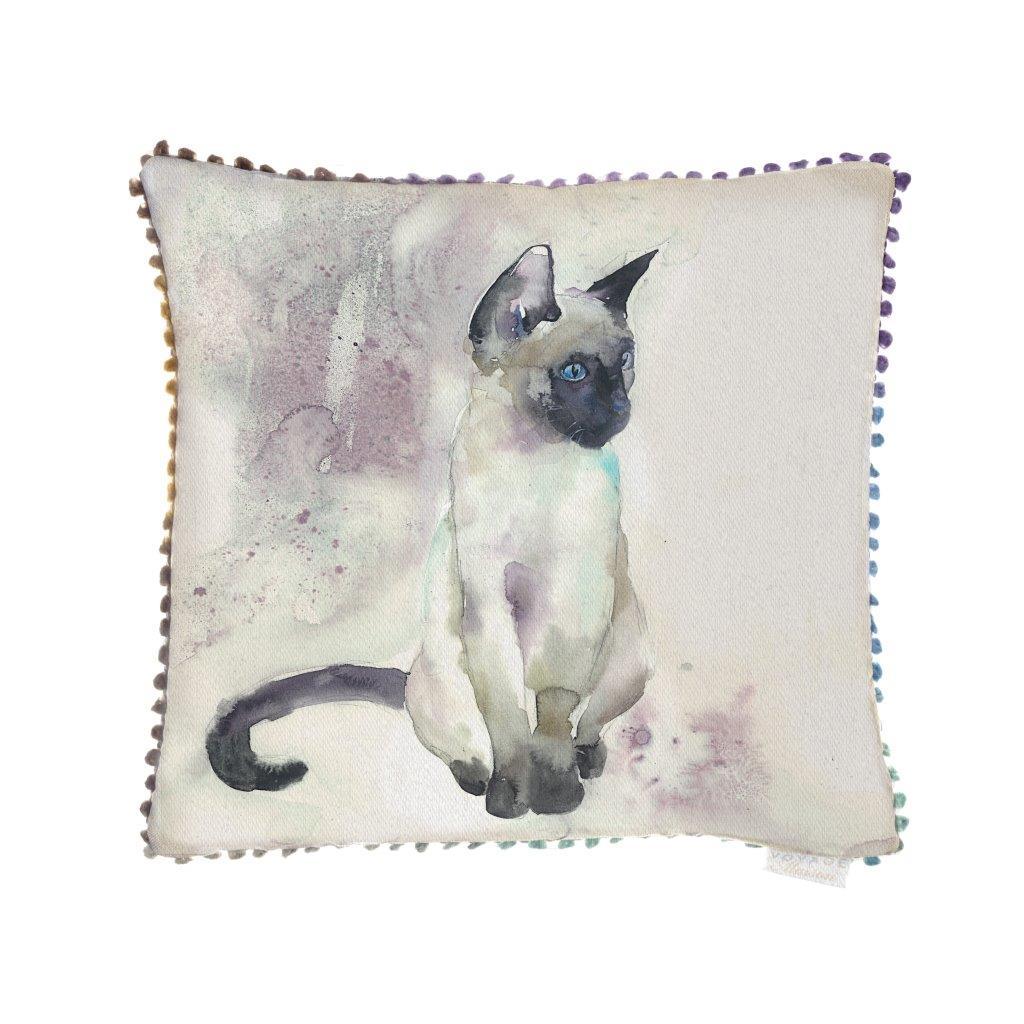 Siamese Linen Cushion 43x43cm