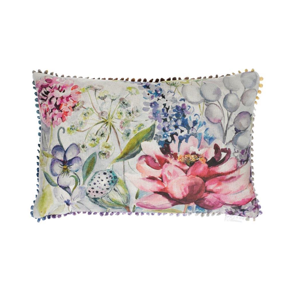 Spring Garden Linen Cushion 40x60cm