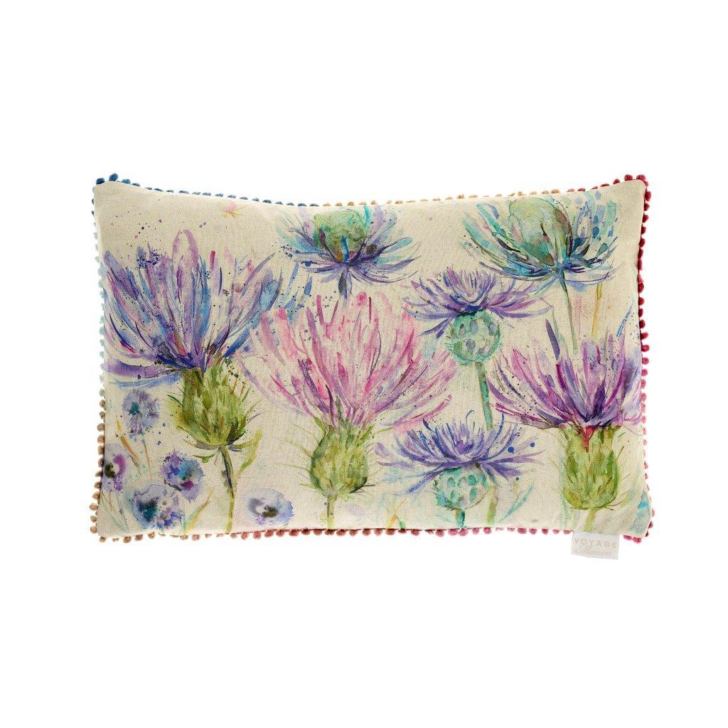 Thistles Linen Cushion 40x60cm