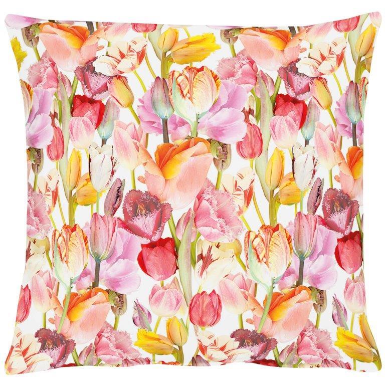 Tulip Garden Cotton Cushion 48x48cm