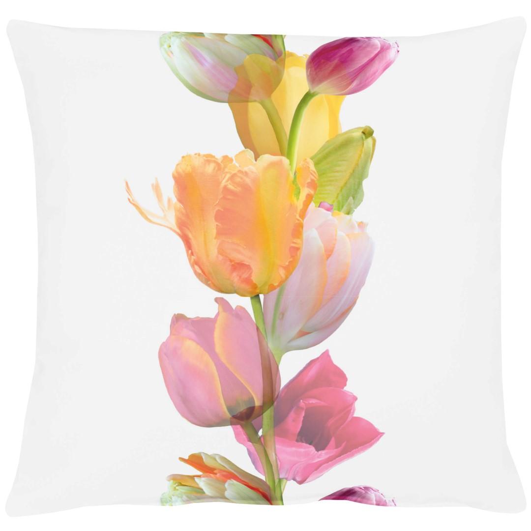 Tulip Pink Cotton Cushion 49x49cm