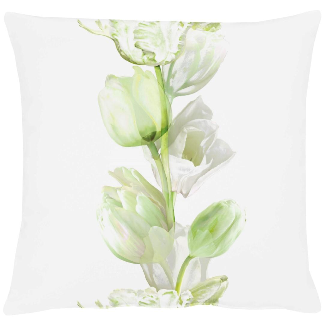 Tulip White Cotton Cushion 49x49cm