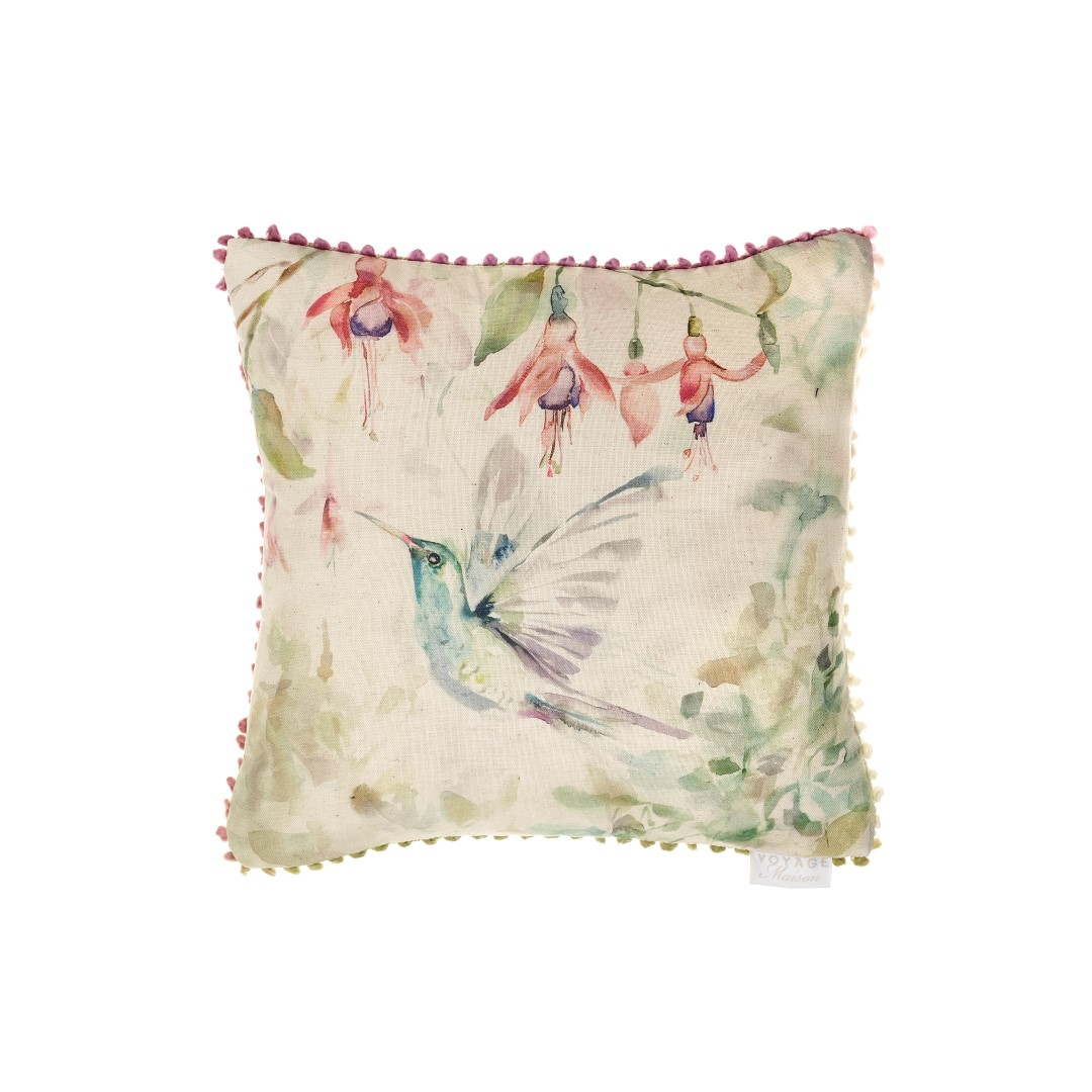 Fushia Flight Linen Cushion 43x43cm