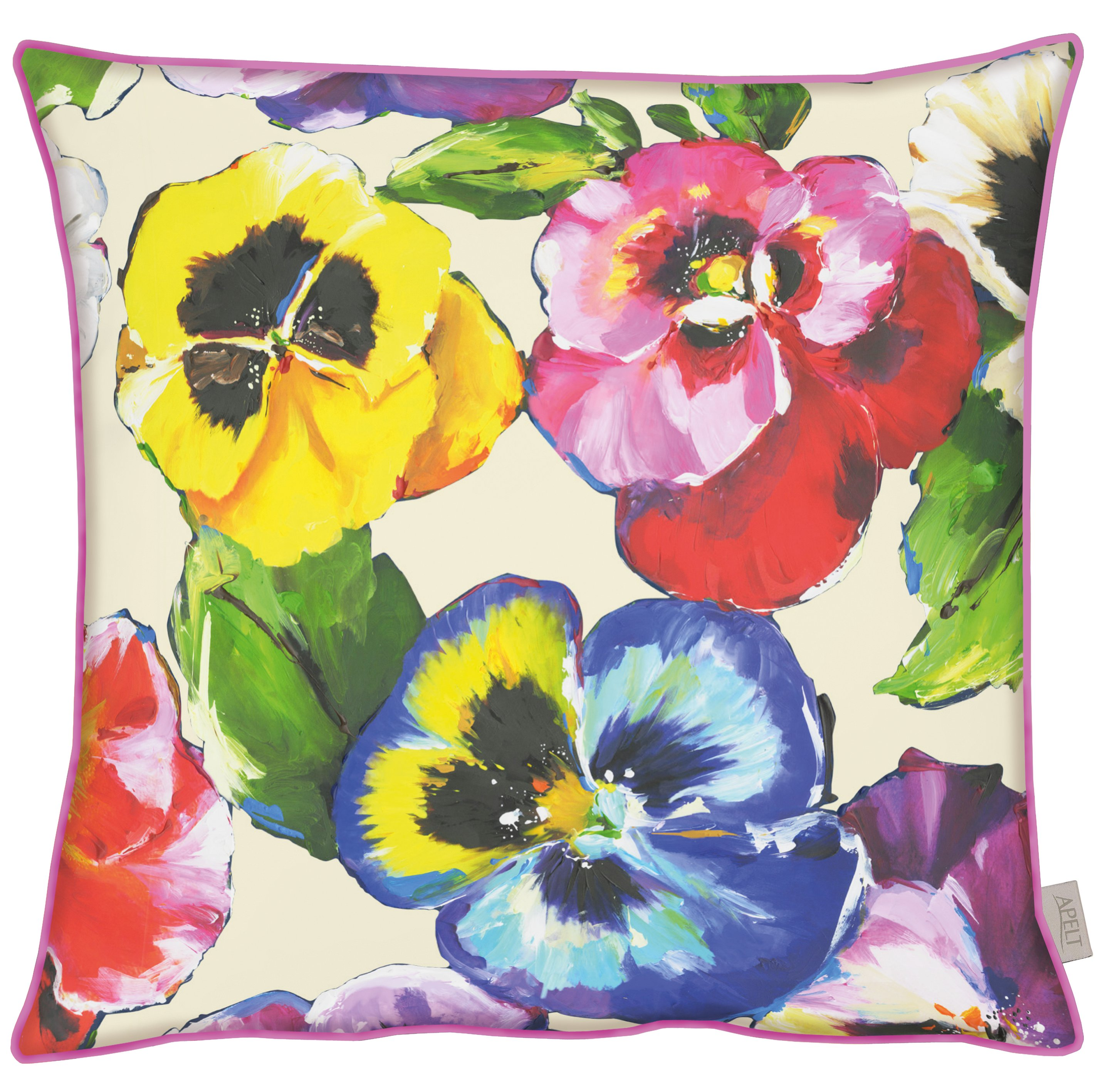Pansies Cotton Cushion 49x49cm