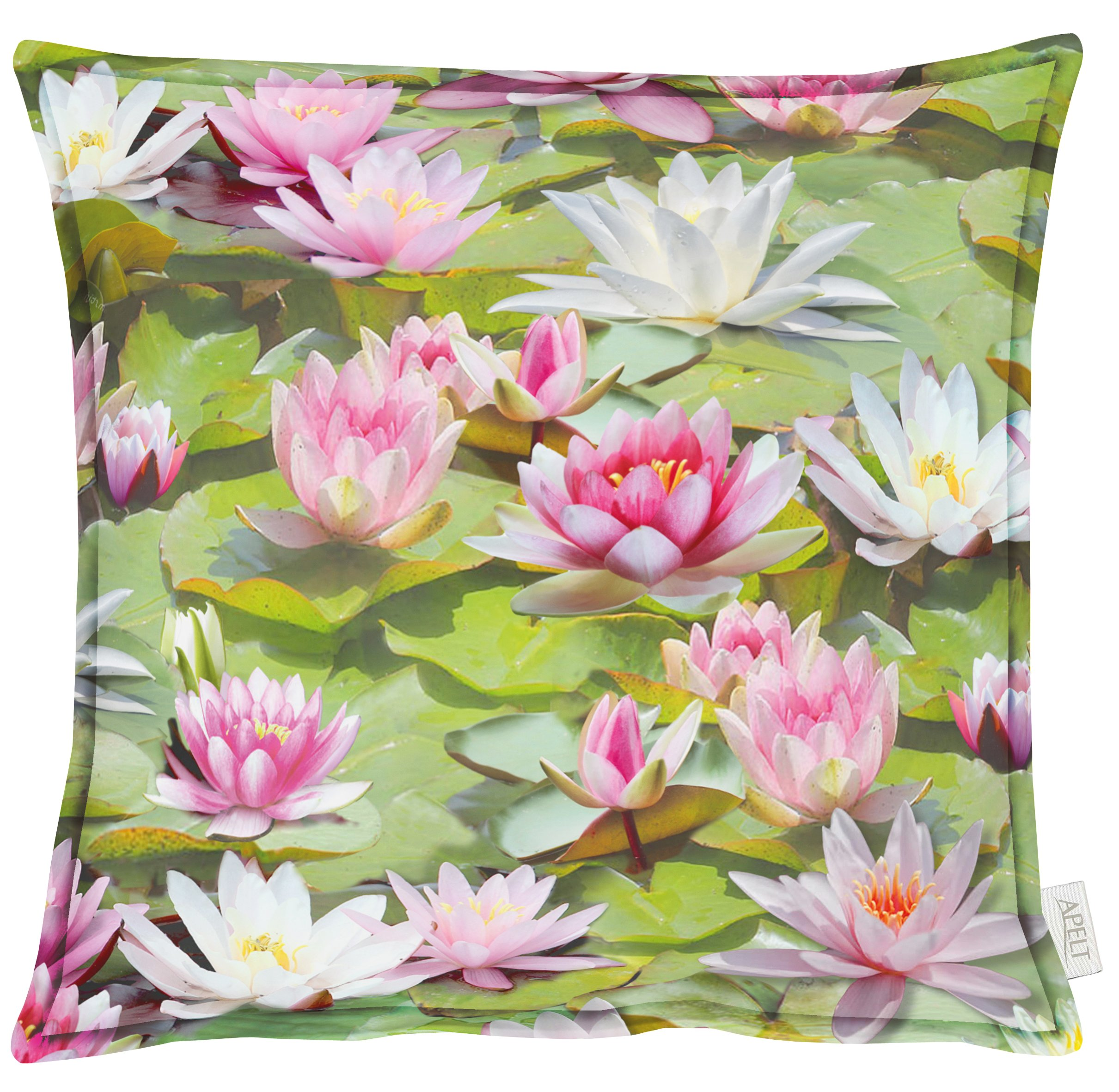 Waterlily Cotton Cushion 49x49cm