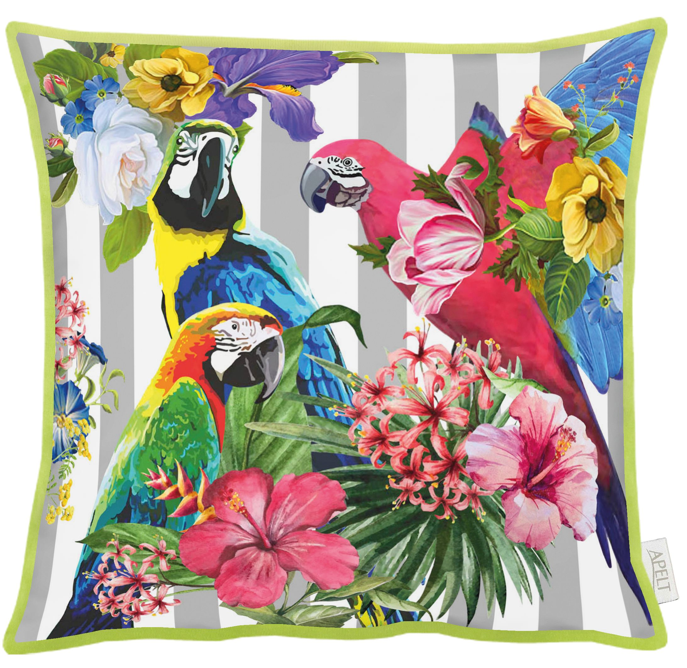 Parrots Cotton Cushion 46x46cm