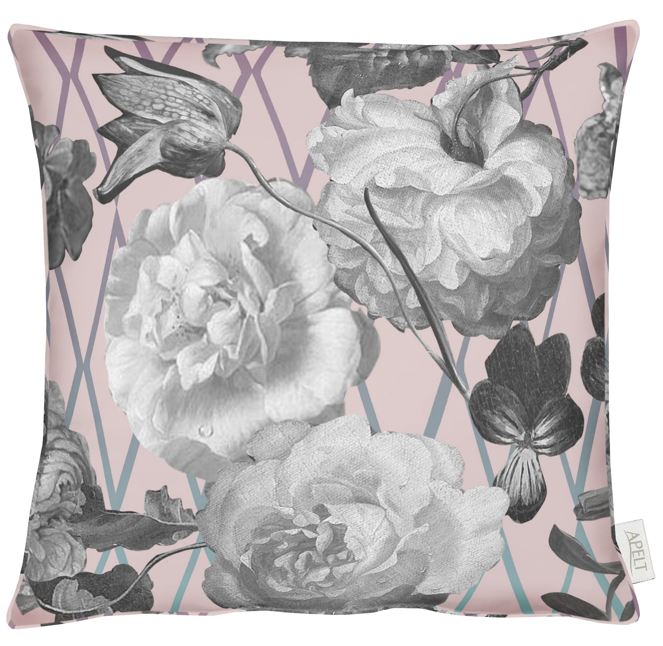 Sibylla Paris Pink Velvet Cushion 46x46cm
