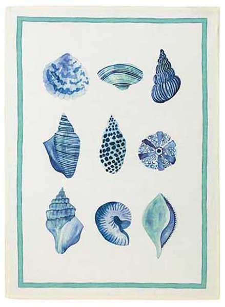 Shells Linen Tea Towel 50x70cm