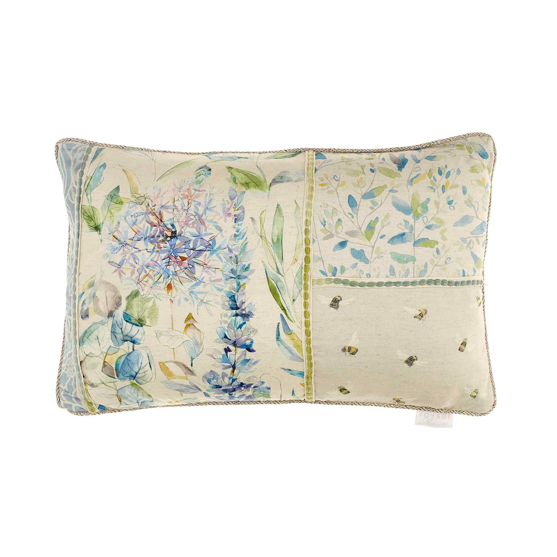 Carneum Capri Patchwork Linen Cushion 40x60cm