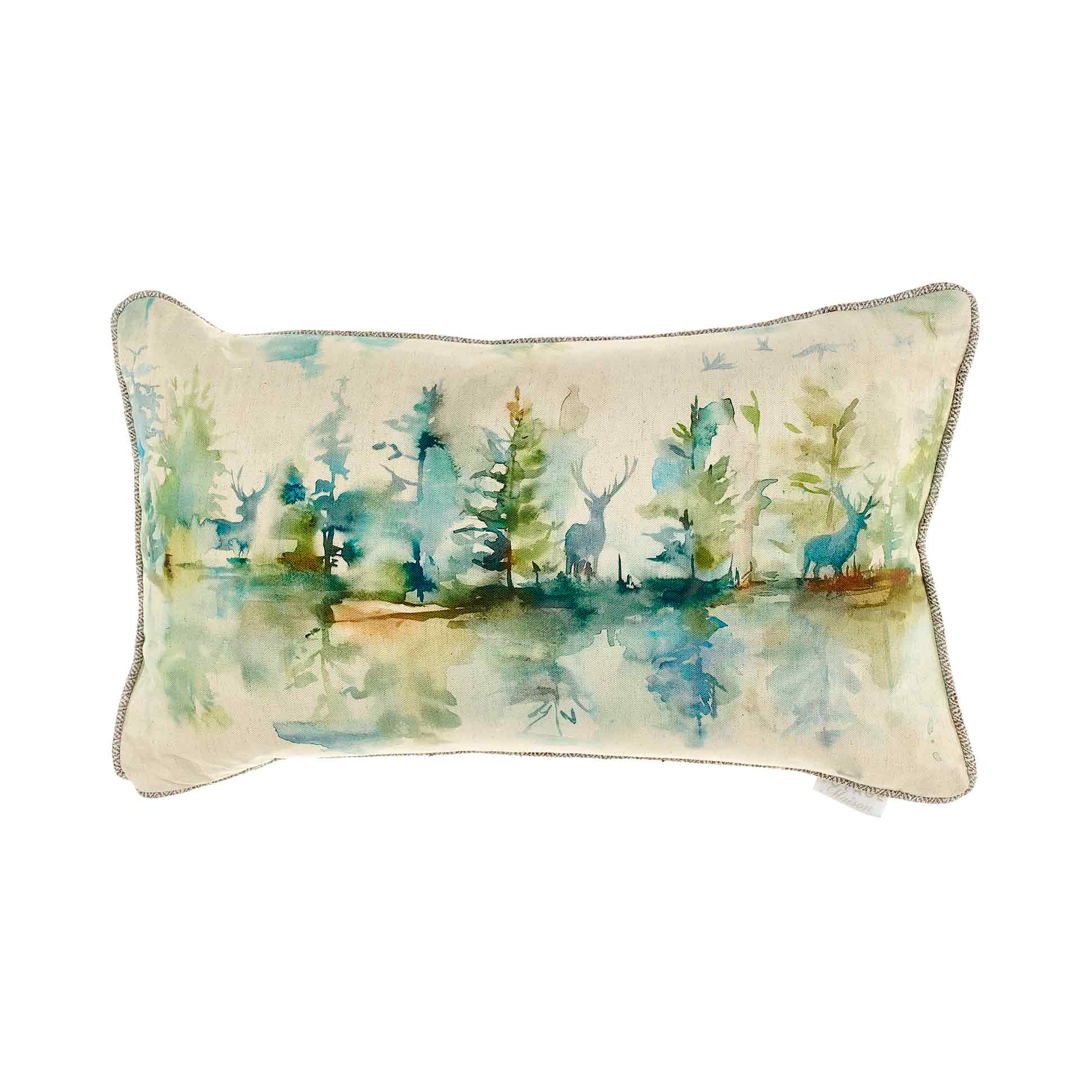 Wilderness Topaz Linen Cushion 35x60cm