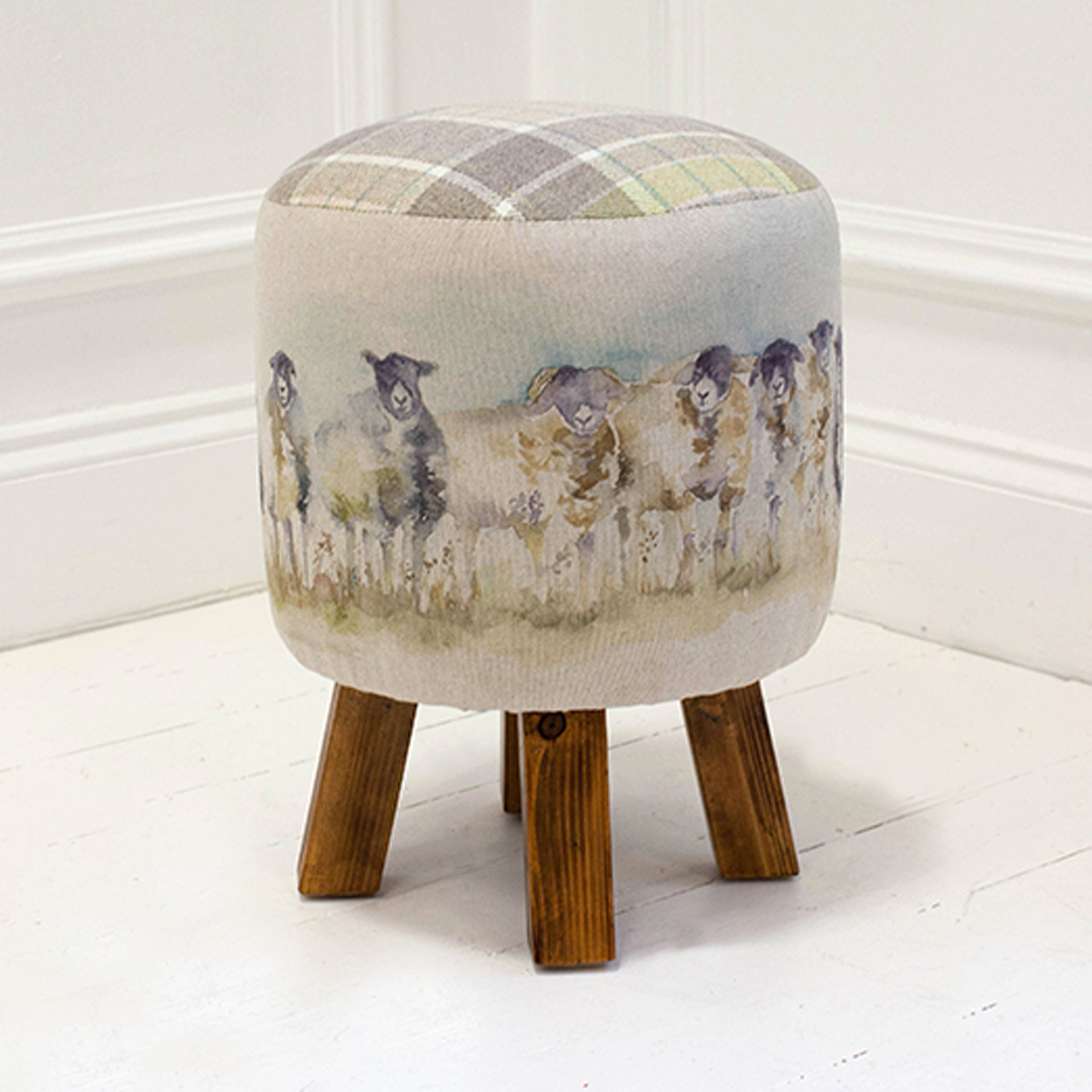 Come by Sheep Linen Stool 25x45cm