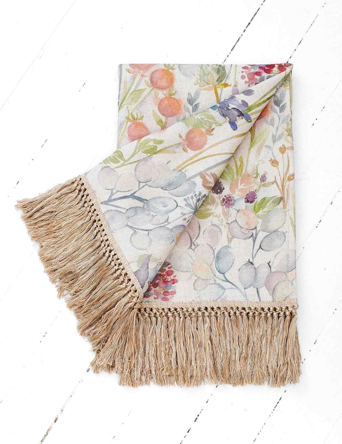 Hedgerow Linen Throw 205cmx136cm