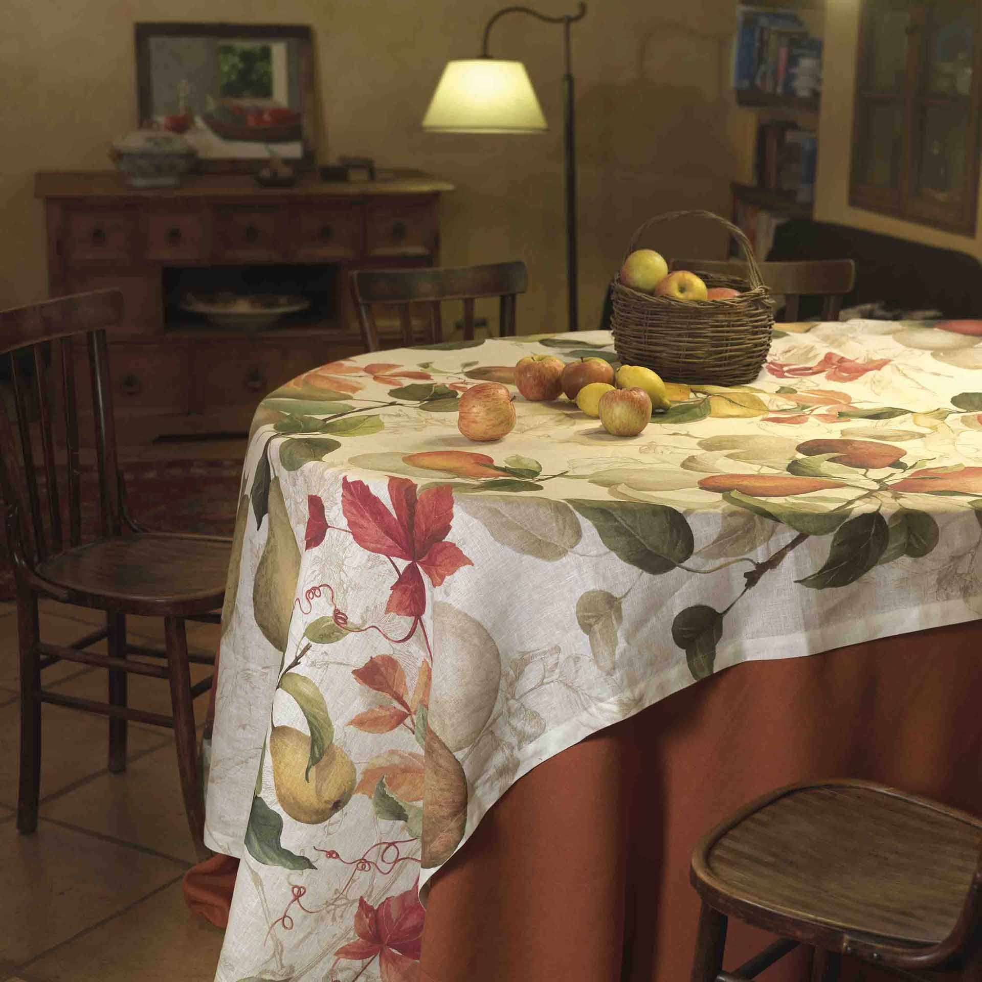 Calvados Linen Tablecloth Sizes 170x170cm, 160x230cm, 170x270cm, 170x310cm, 170cm Round
