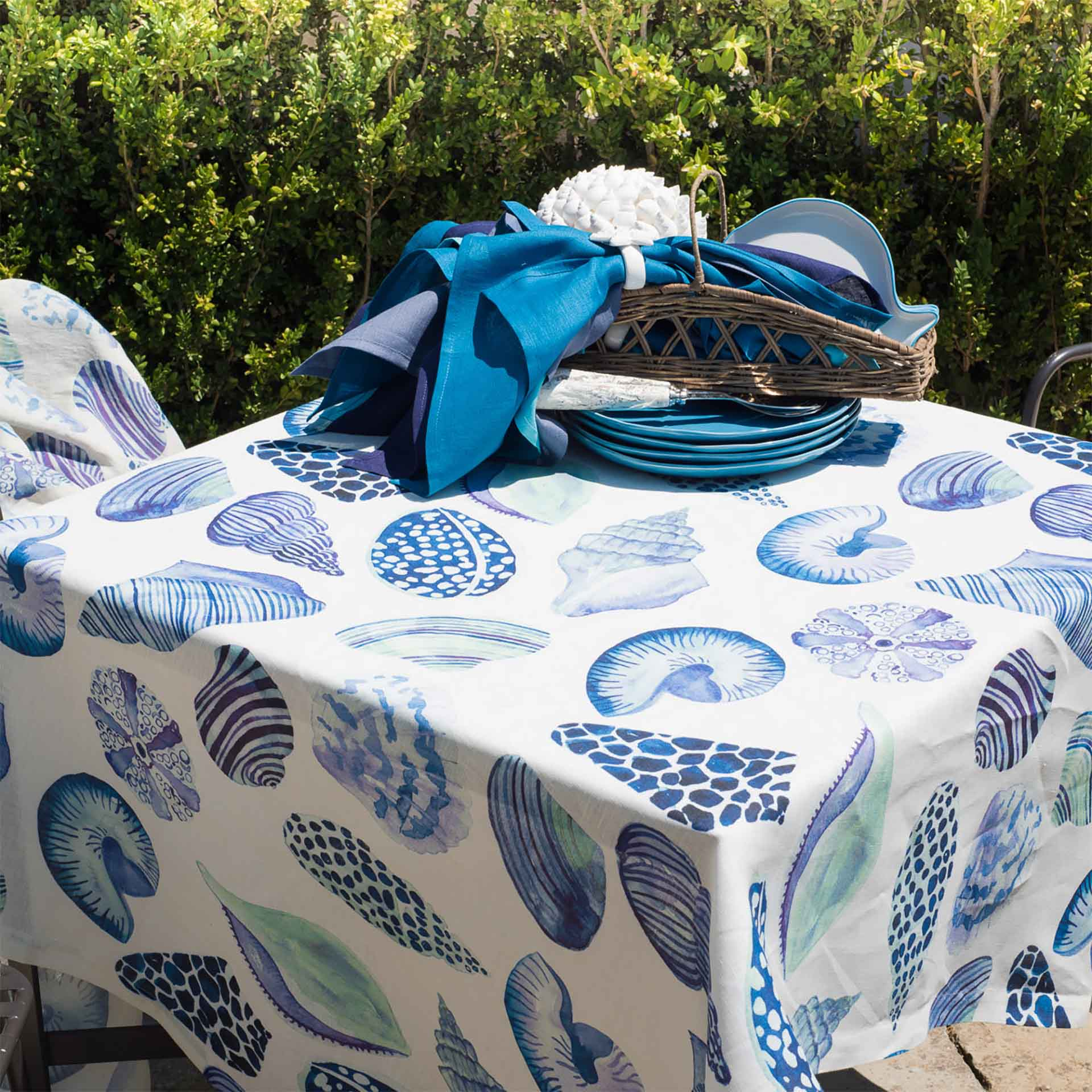 Cyprea Linen Tablecloth Sizes 170x170cm, 160x230cm, 170x270cm, 170x310cm, 175cm Round