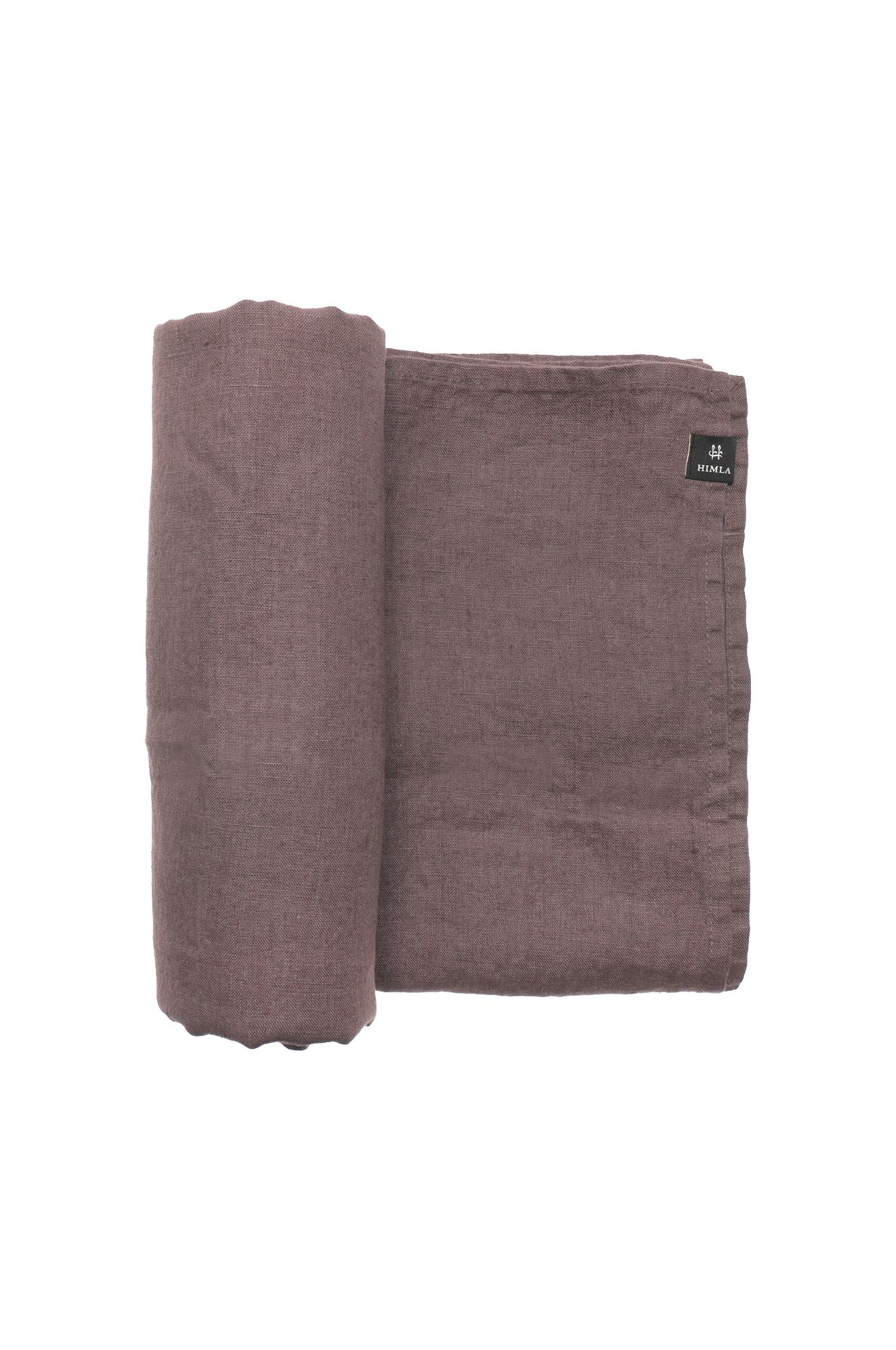 Mauve Sunshine Linen Tablecloth 145x250cm, 145x330cm, 160x330cm