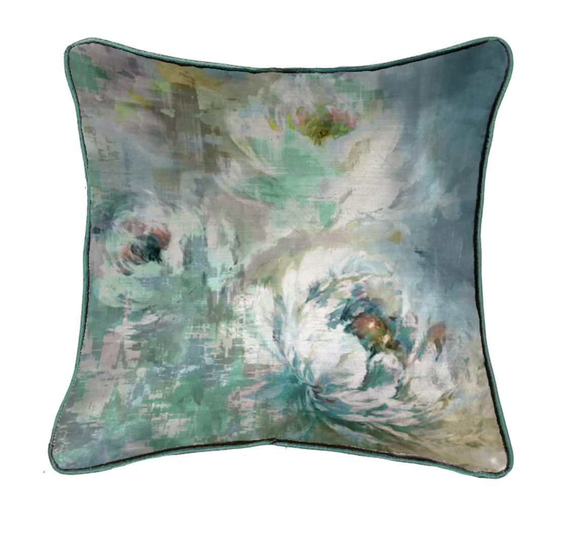 Roseum Khaki Velvet Cushion 50x50cm